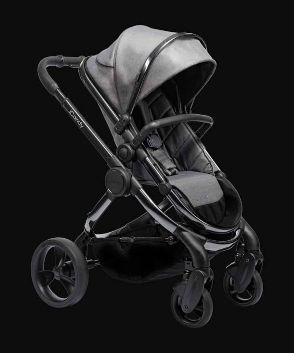 Travel Systems Peach Pushchair and Carrycot Grey Twill on Phantom Pitter Patter Baby NI 5