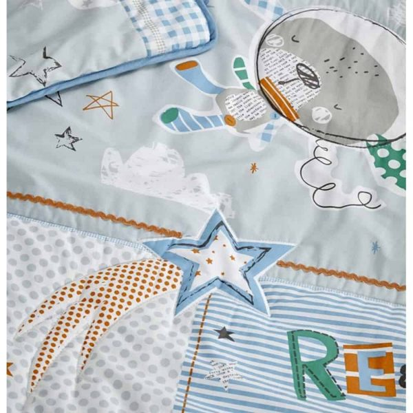 Bedding Sets Forty Winks Cot/Cot Bed quilt & bumper bedding Set Pitter Patter Baby NI 8