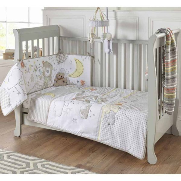 Bedding Sleep Tight Cot/Cot Bed Quilt & Bumper Bedding Set Pitter Patter Baby NI 5