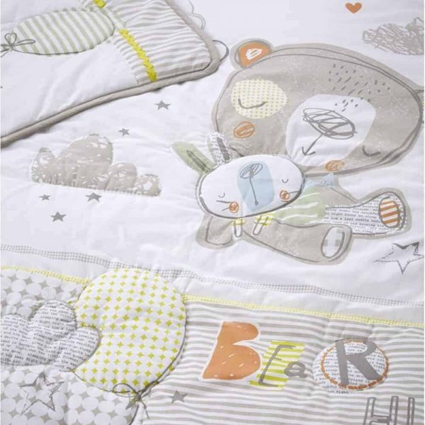 Bedding Sleep Tight Cot/Cot Bed Quilt & Bumper Bedding Set Pitter Patter Baby NI 8