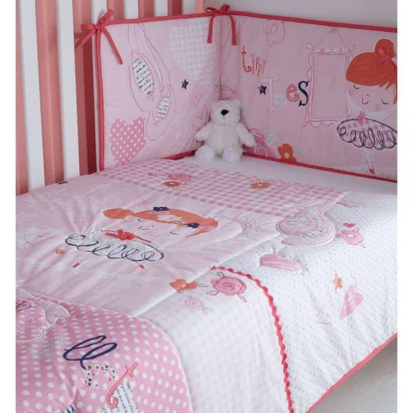 Bedding Tippy Toes Cot/Cot Bed Quilt & Bumper Bedding Set Pitter Patter Baby NI 8