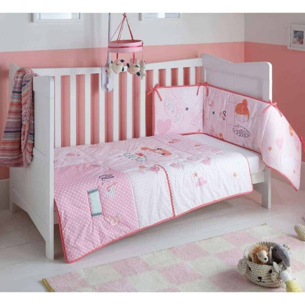 Bedding Tippy Toes Cot/Cot Bed Quilt & Bumper Bedding Set Pitter Patter Baby NI 4