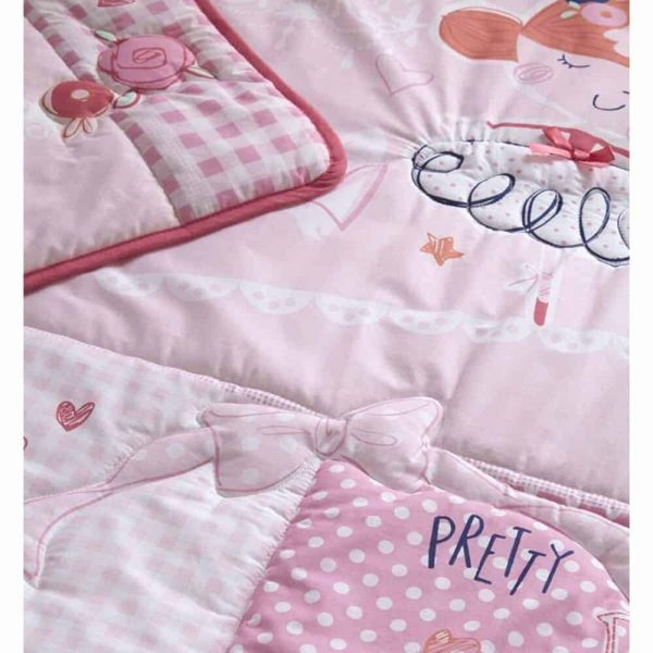 Bedding Tippy Toes Cot/Cot Bed Quilt & Bumper Bedding Set Pitter Patter Baby NI 5