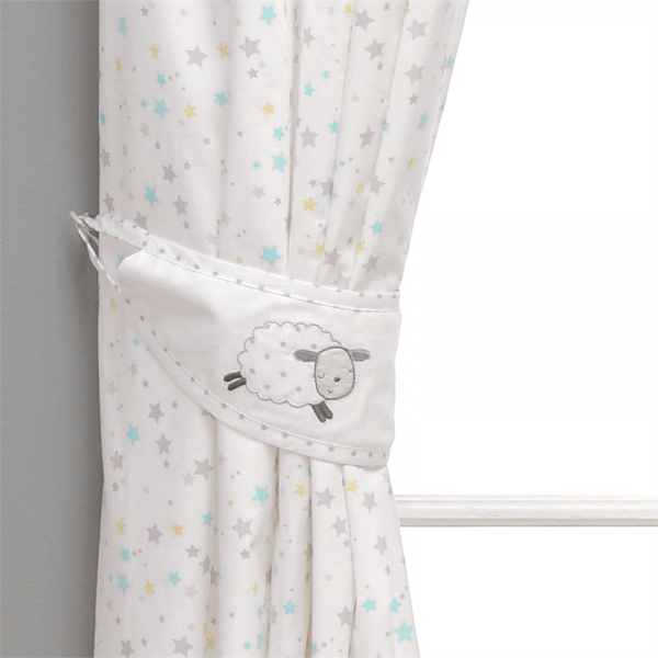 Bedding Counting Sheep Lined Curtains Pitter Patter Baby NI 6