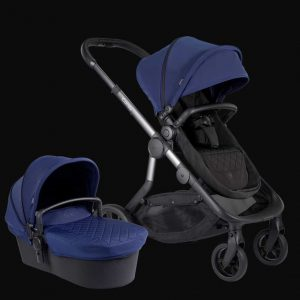 Orange Pushchair and Carrycot – Indigo