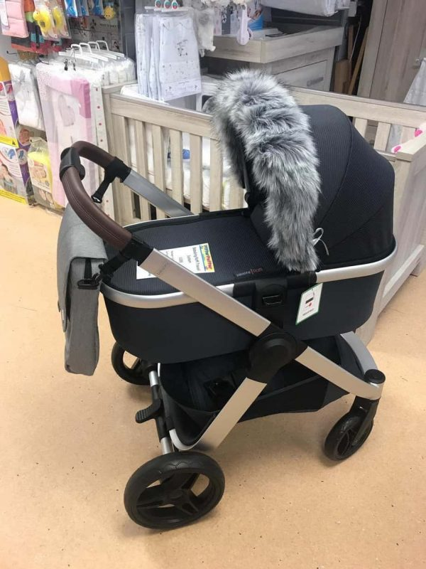 Accessories & Footmuffs Universal fur trim grey Pitter Patter Baby NI 5