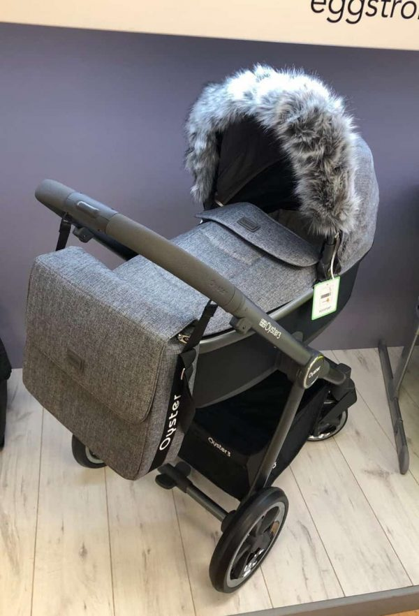 Accessories & Footmuffs Universal fur trim grey Pitter Patter Baby NI 4