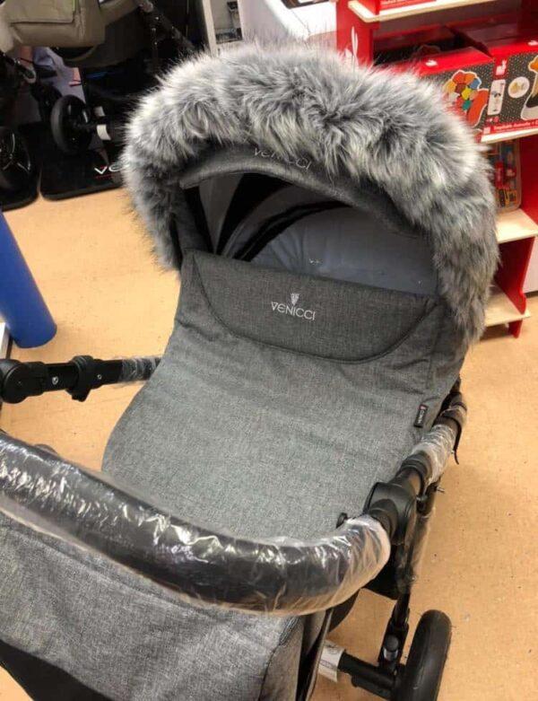Accessories & Footmuffs Universal fur trim grey Pitter Patter Baby NI 7