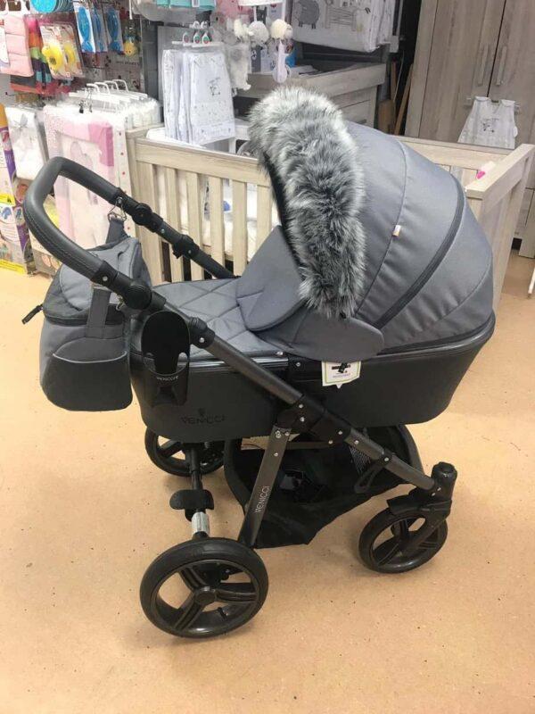 Accessories & Footmuffs Universal fur trim grey Pitter Patter Baby NI 6