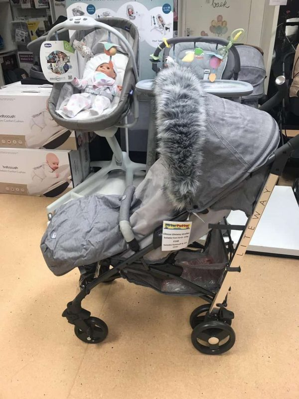 Accessories & Footmuffs Universal fur trim grey Pitter Patter Baby NI 8
