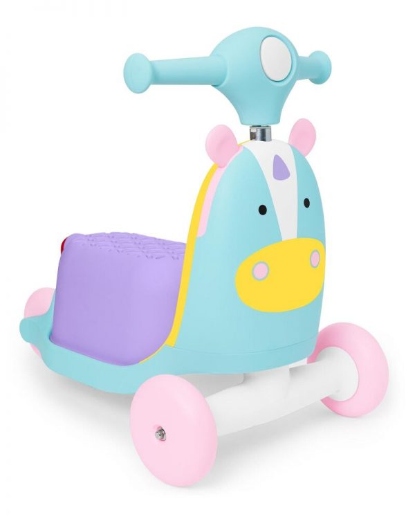 Ride On toys Skip Hop Zoo 3in1 Ride on Toy Unicorn Pitter Patter Baby NI 5