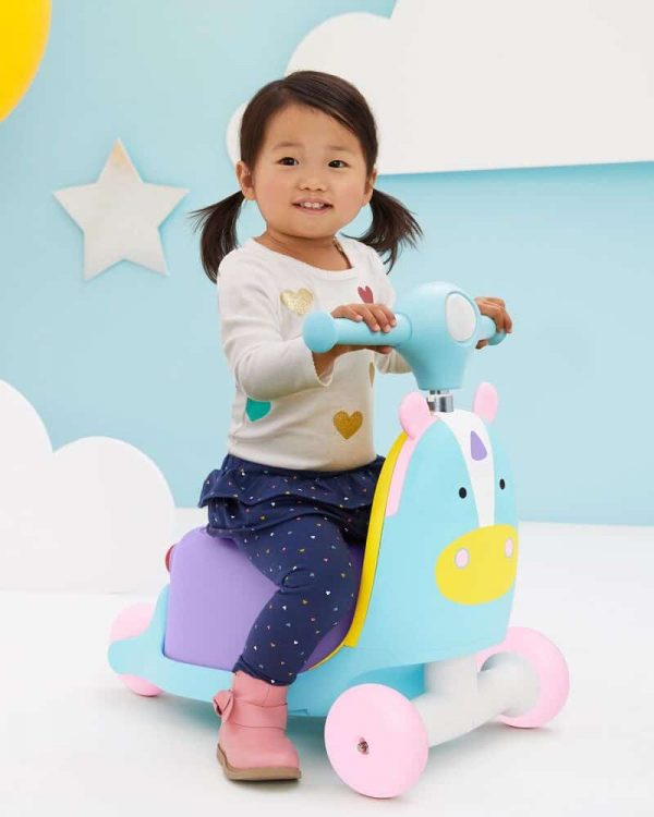 Ride On toys Skip Hop Zoo 3in1 Ride on Toy Unicorn Pitter Patter Baby NI 4