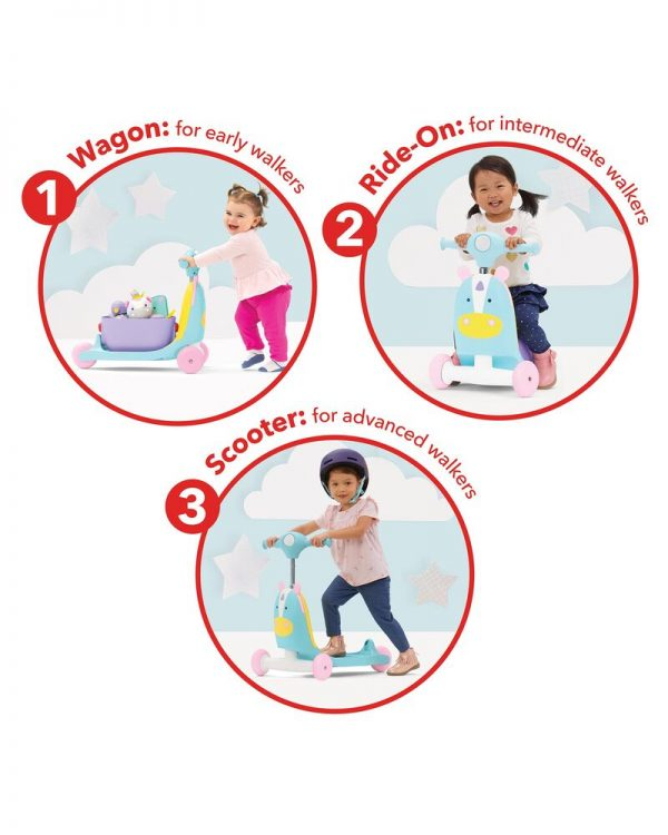 Ride On toys Skip Hop Zoo 3in1 Ride on Toy Unicorn Pitter Patter Baby NI 7