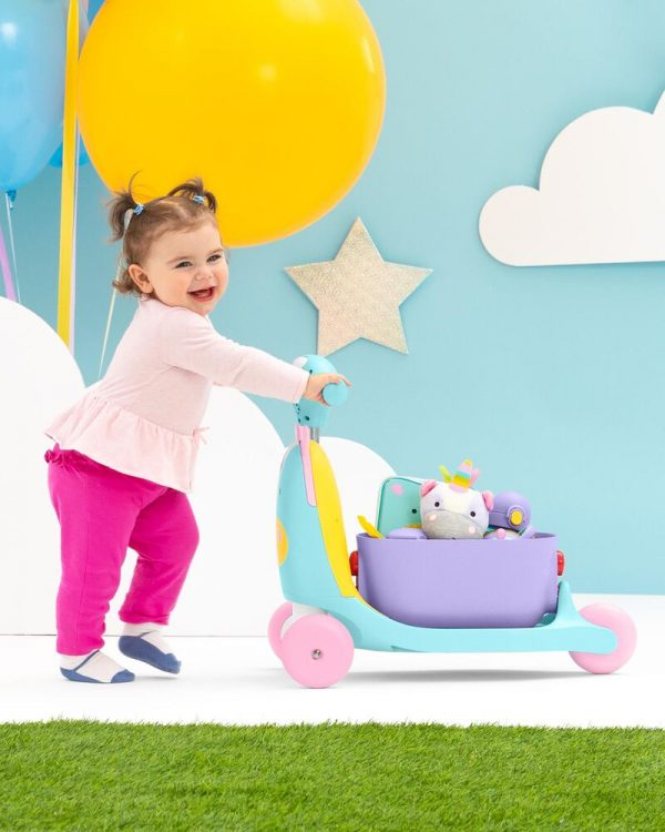 Ride On toys Skip Hop Zoo 3in1 Ride on Toy Unicorn Pitter Patter Baby NI 9