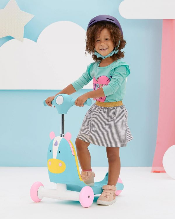 Ride On toys Skip Hop Zoo 3in1 Ride on Toy Unicorn Pitter Patter Baby NI 10