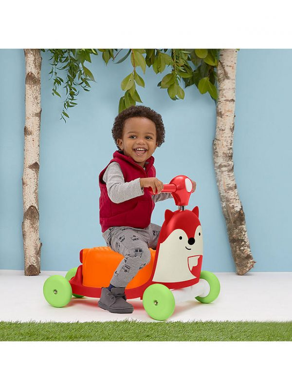 Ride On toys Skip Hop Zoo 3 in 1 Ride On Fox Toy Pitter Patter Baby NI 9