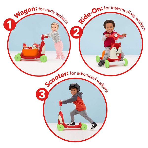 Ride On toys Skip Hop Zoo 3 in 1 Ride On Fox Toy Pitter Patter Baby NI 4