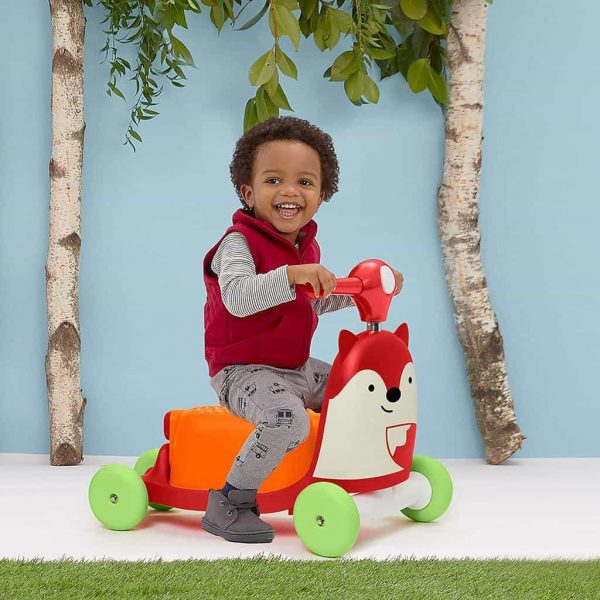 Ride On toys Skip Hop Zoo 3 in 1 Ride On Fox Toy Pitter Patter Baby NI 3