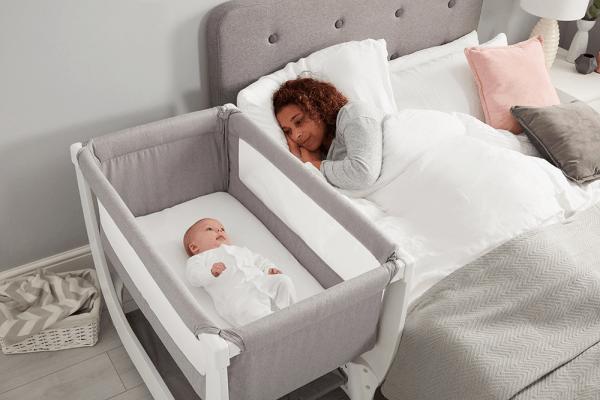 Cribs & Next2Me Cribs Shnuggle Air Bedside Crib Pitter Patter Baby NI 6