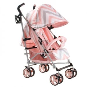 My Babiie MB02 Pink Chevron Stroller