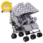 Billie Faiers MB22 Grey Chevron Twin Stroller