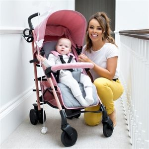 Katie Piper MB51 Rose Gold, Pink and Grey Stroller