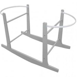Cuddles Collection Moses Basket Stand – rocking grey