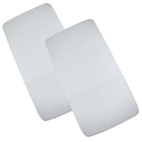 Sheets & Protectors 2 Pack Crib Fitted Sheets 40cm x 94cm Pitter Patter Baby NI 8