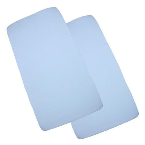 Sheets & Protectors 2 Pack Crib Fitted Sheets 40cm x 94cm Pitter Patter Baby NI 6