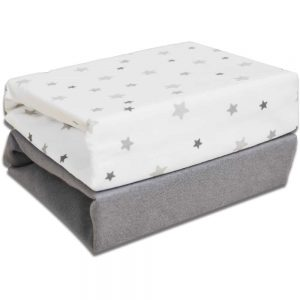 2 Pack Crib Fitted Sheets 40cm x 94cm