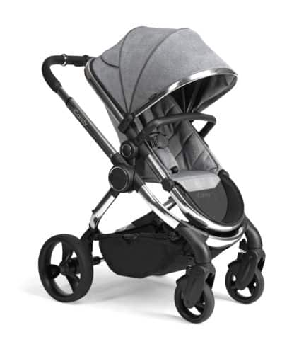 Travel Systems Peach Pushchair and Carrycot – Chrome Light Grey Check Pitter Patter Baby NI 8
