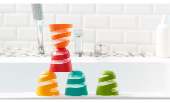 Bath Toys & Supports Tiny Love Spiral Cups Bath Toy Pitter Patter Baby NI 6