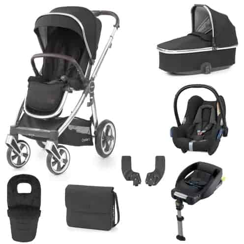 Travel Systems Babystyle Oyster 3 Caviar Luxury Bundle Pitter Patter Baby NI 4