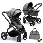 Peach Pushchair and Carrycot Grey Twill on Phantom