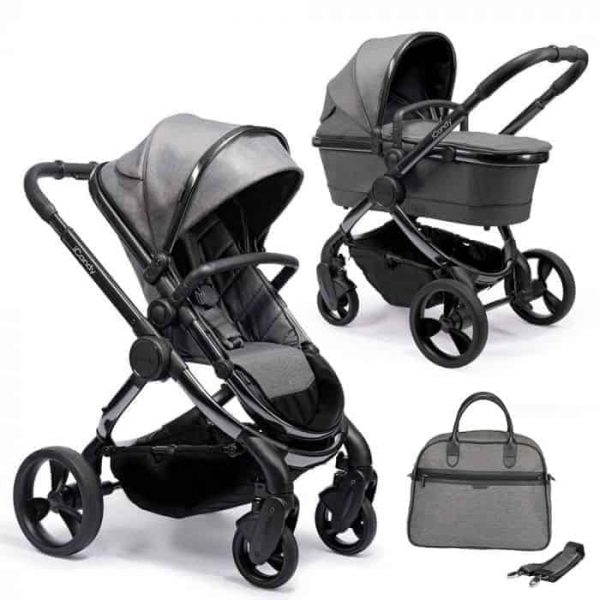 Travel Systems Peach Pushchair and Carrycot Grey Twill on Phantom Pitter Patter Baby NI 4