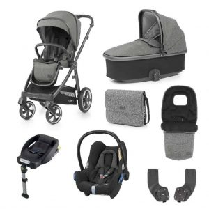 Babystyle Oyster 3 Pushchair, Mercury on City Grey Bundle