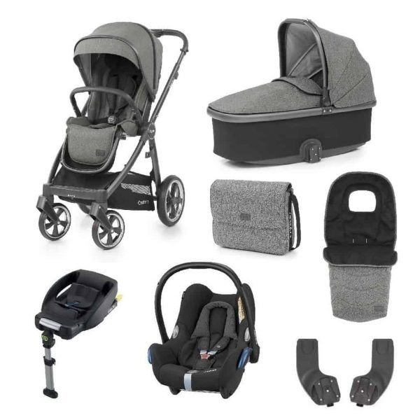 Travel Systems Babystyle Oyster 3 Pushchair, Mercury on City Grey Bundle Pitter Patter Baby NI 4