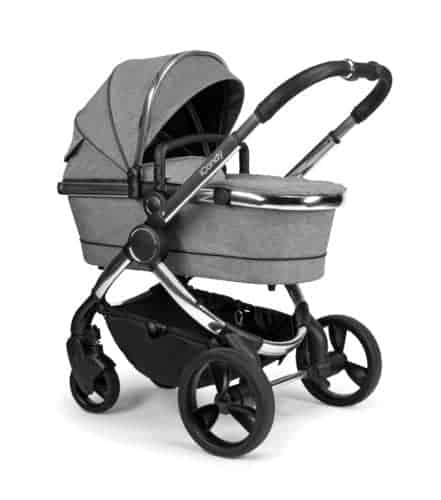 Travel Systems Peach Pushchair and Carrycot – Chrome Light Grey Check Pitter Patter Baby NI 4