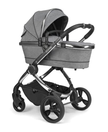Travel Systems Peach Pushchair and Carrycot – Chrome Light Grey Check Pitter Patter Baby NI 6