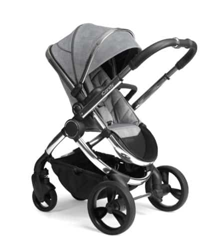 Travel Systems Peach Pushchair and Carrycot – Chrome Light Grey Check Pitter Patter Baby NI 7