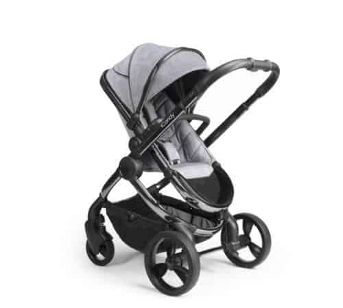 Travel Systems Peach Pushchair and Carrycot – Phantom Light Grey Check Pitter Patter Baby NI 5