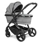 Peach Pushchair and Carrycot – Phantom Light Grey Check