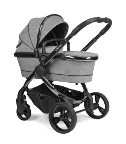 Travel Systems Peach Pushchair and Carrycot – Phantom Light Grey Check Pitter Patter Baby NI 4