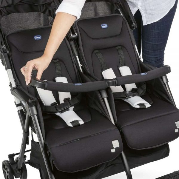 Buggies & Strollers Chicco Ohlala Twin Stroller (Black Night) Pitter Patter Baby NI 9