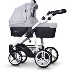 Venicci Soft Light grey with white chassis