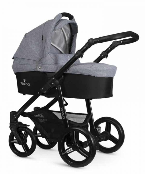 Travel Systems Venicci Soft Med Grey with black chassis Pitter Patter Baby NI 4