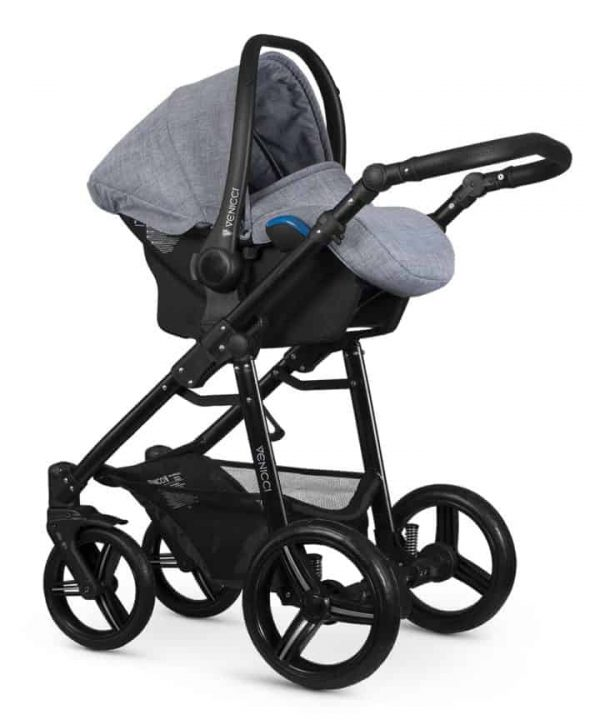 Travel Systems Venicci Soft Med Grey with black chassis Pitter Patter Baby NI 6