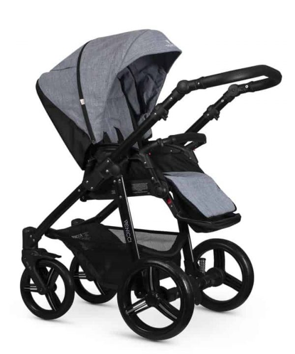 Travel Systems Venicci Soft Med Grey with black chassis Pitter Patter Baby NI 7