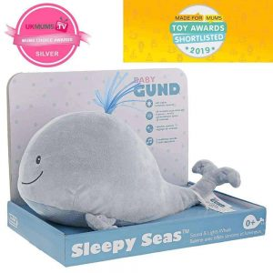 Night Lights & Cot Mobiles Sleepy Seas Light & Sound Whale Animated Soft Toy – GUND Baby Pitter Patter Baby NI