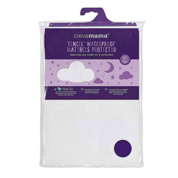 Sheets & Protectors Tencel® Waterproof Mattress Protector – Cot size Pitter Patter Baby NI 4